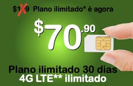 Chip Proximo + pacote ilimitado 30 dias com 4G LTE ilimitado para o próprio aparelho (Estados Unidos+países selecionados da América Latina)