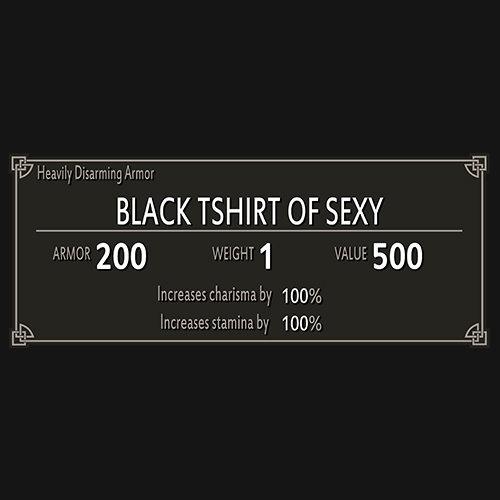 Skyrim t-shirt of sexy!!! t-shirt
