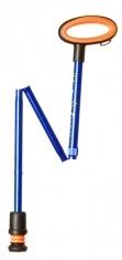 Flexyfoot Faltbarer Wanderstock mit Easy-Grip, kurze Ausführung - blau