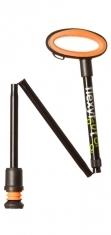 Flexyfoot Faltbarer Wanderstock mit Easy-Grip, kurze Ausführung - schwarz
