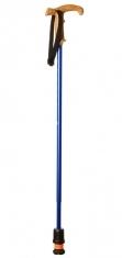 Flexyfoot Teleskopstock mit Korkgriff, kurze Aussführung - blau
