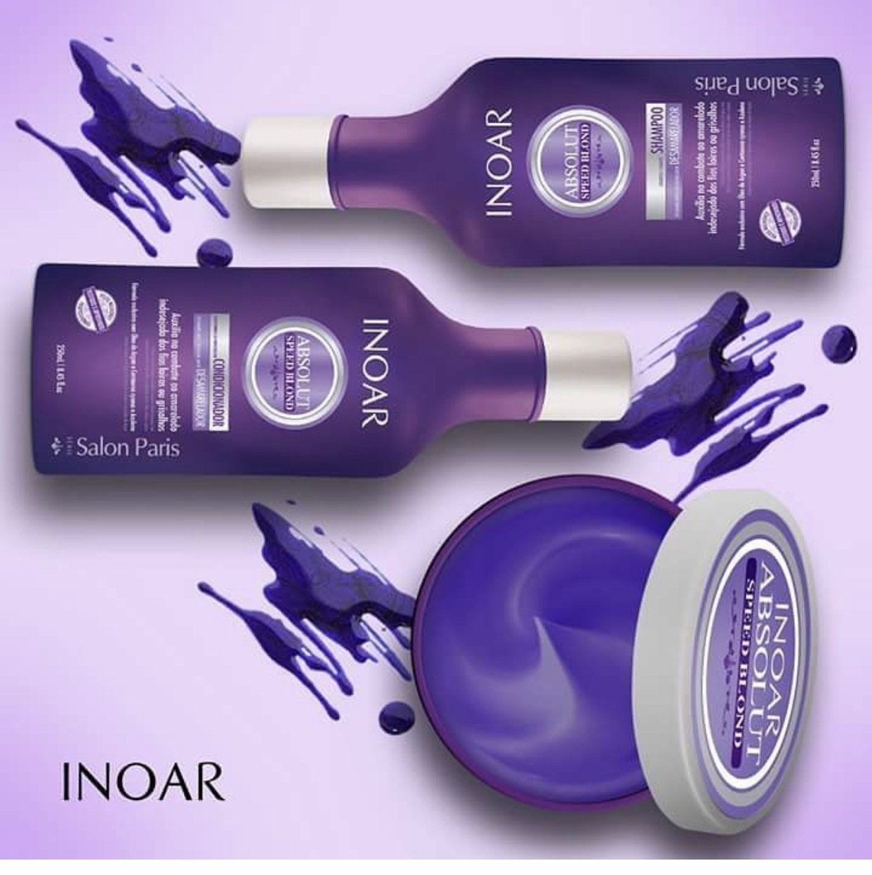 INOAR -DEEP  ABSOLUTE SPEED BLOND TREATMENT  SET