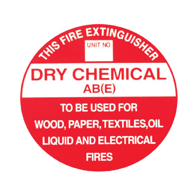 ABE Dry Chemical Fire Extinguisher Sign (195mm x 195mm)