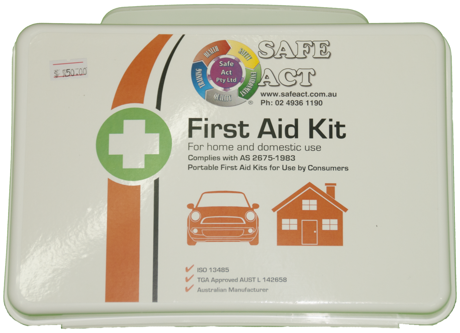 AFAK3W Weatherproof First Aid Kit Home & Recreation 17.6*24.8*7.6cm