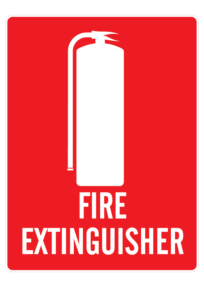 Fire Extinguisher Location Sign (Small) 150mm x 225mm
