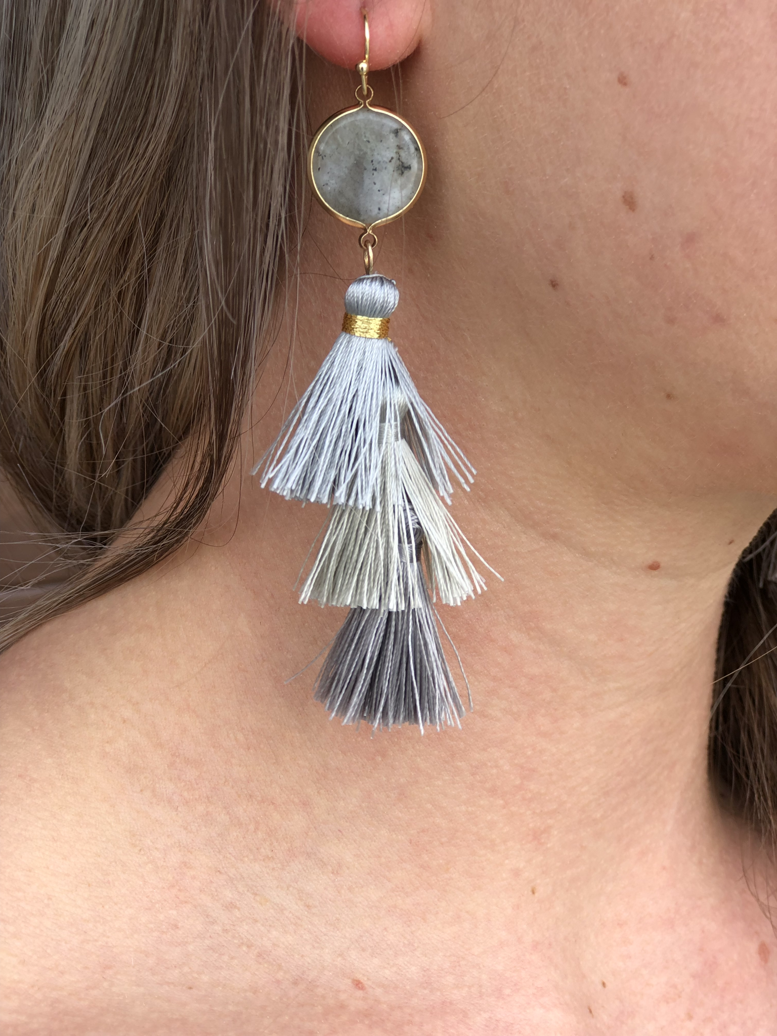 Grey Tassel Earrings 99999981844