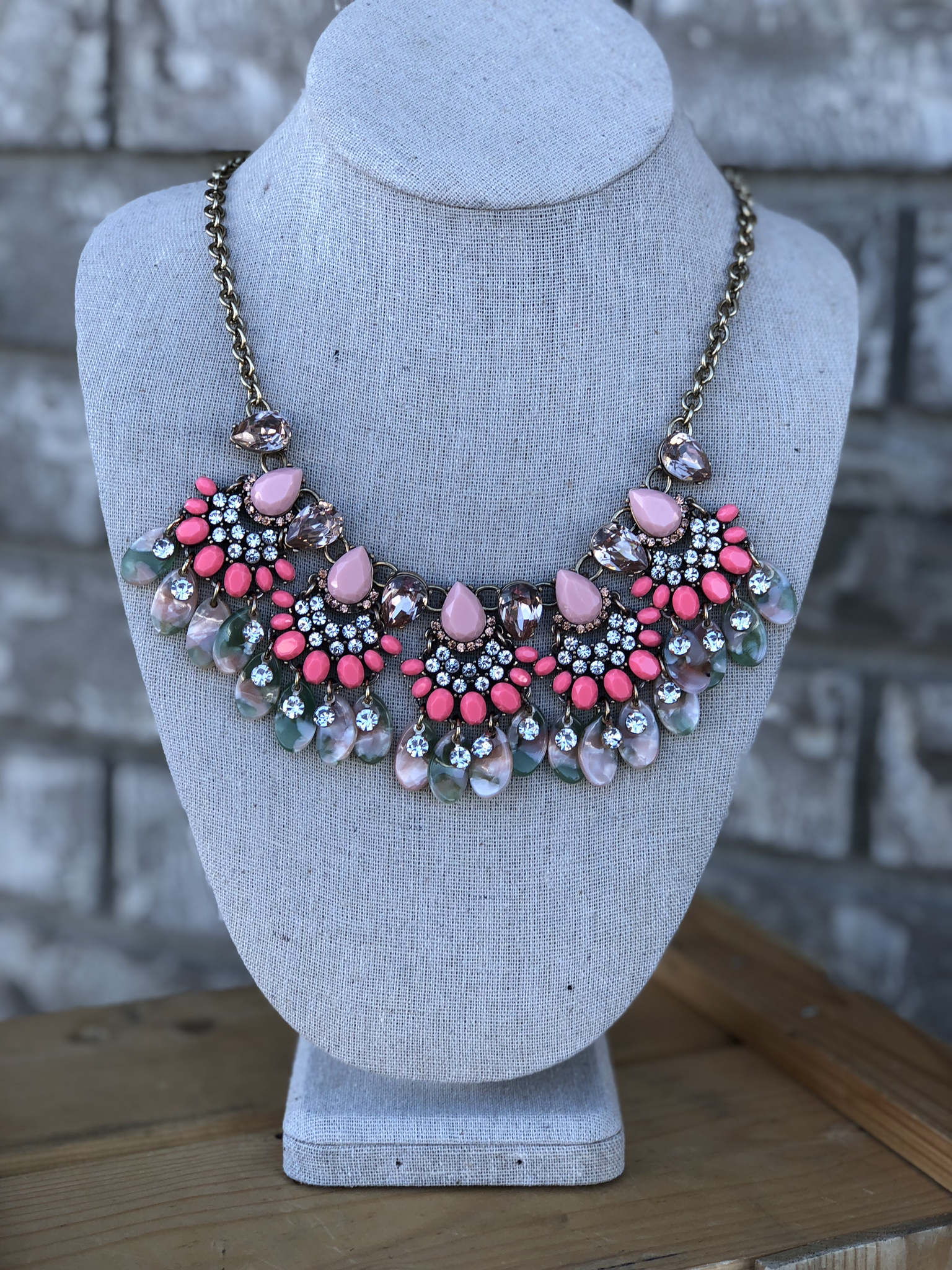 The Coral Cruise Statement Necklace