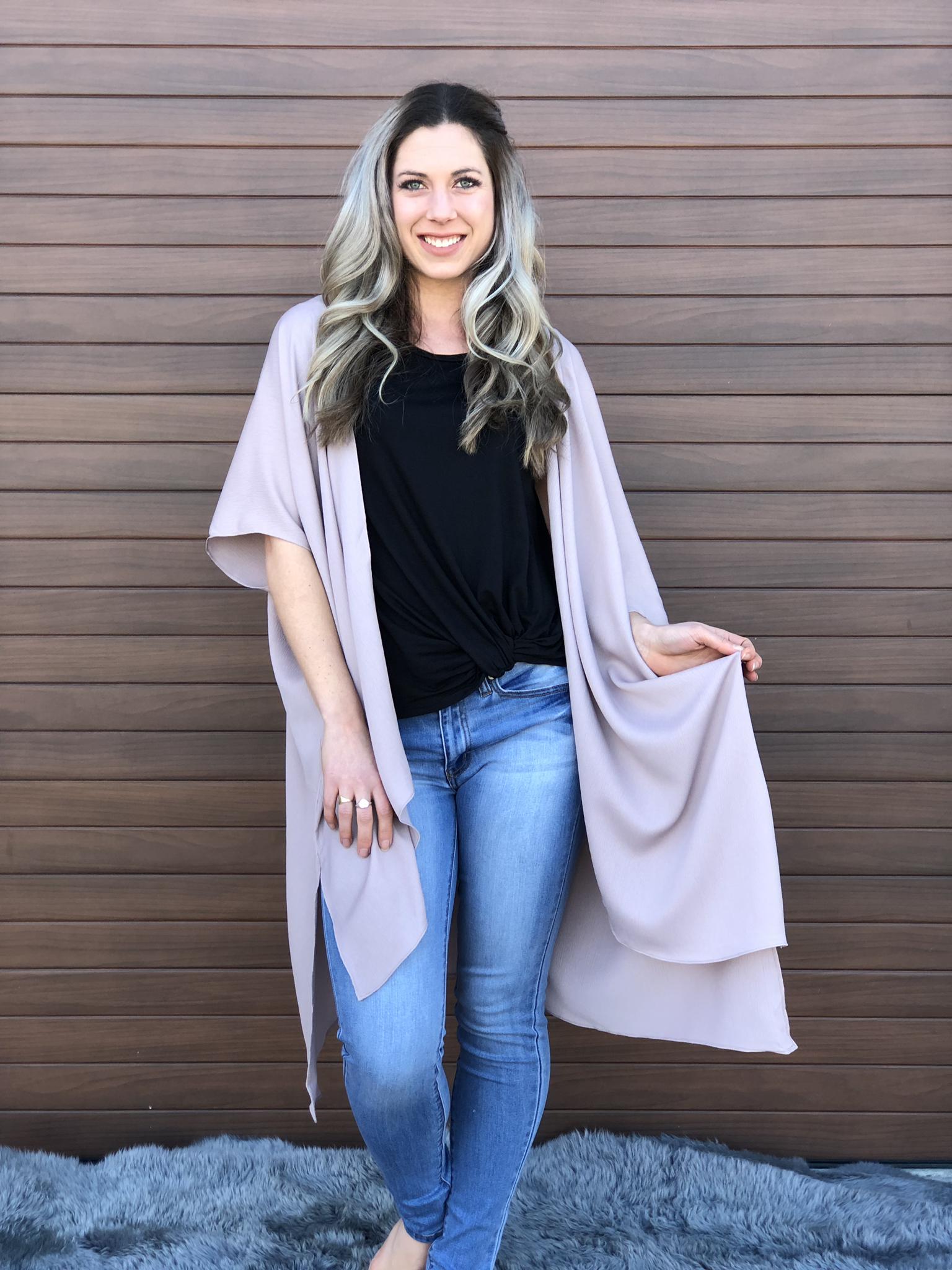 The Tesla Taupe Kimono