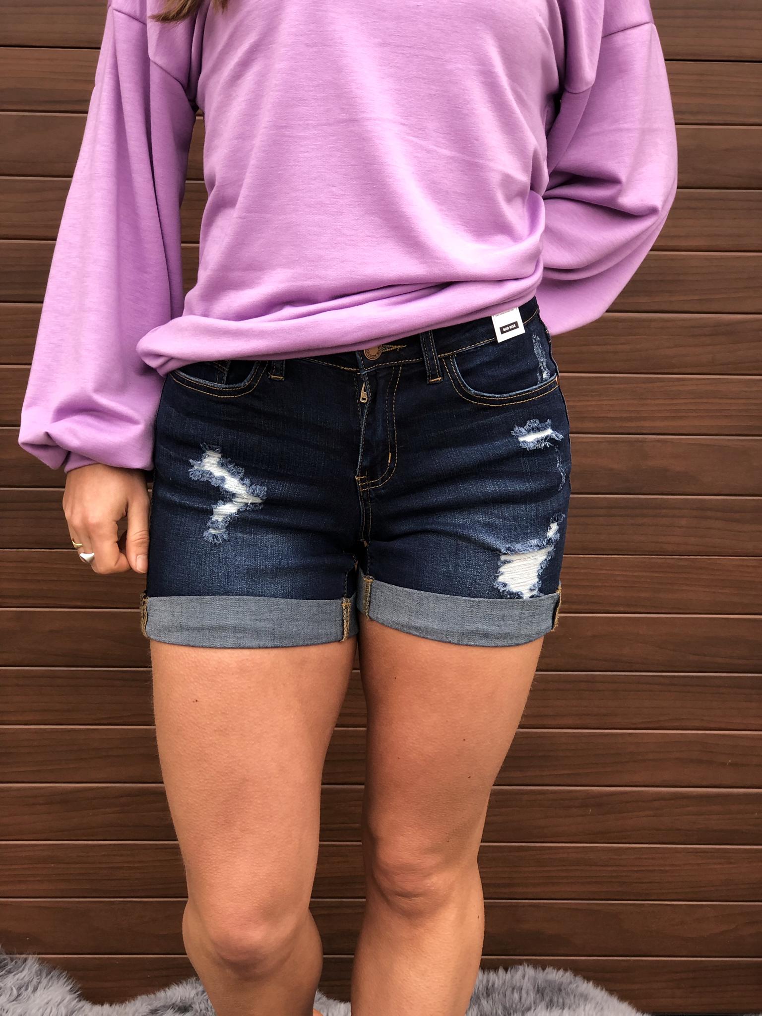 Judy Blue Denim shorts dark wash 99999982039