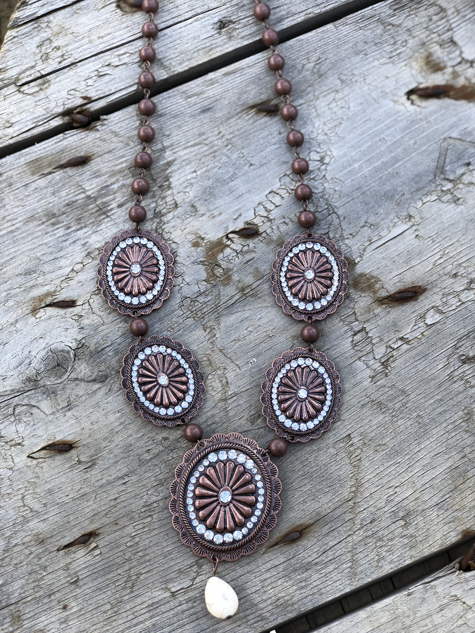 The Concho Statement Necklace and Earring Set N3