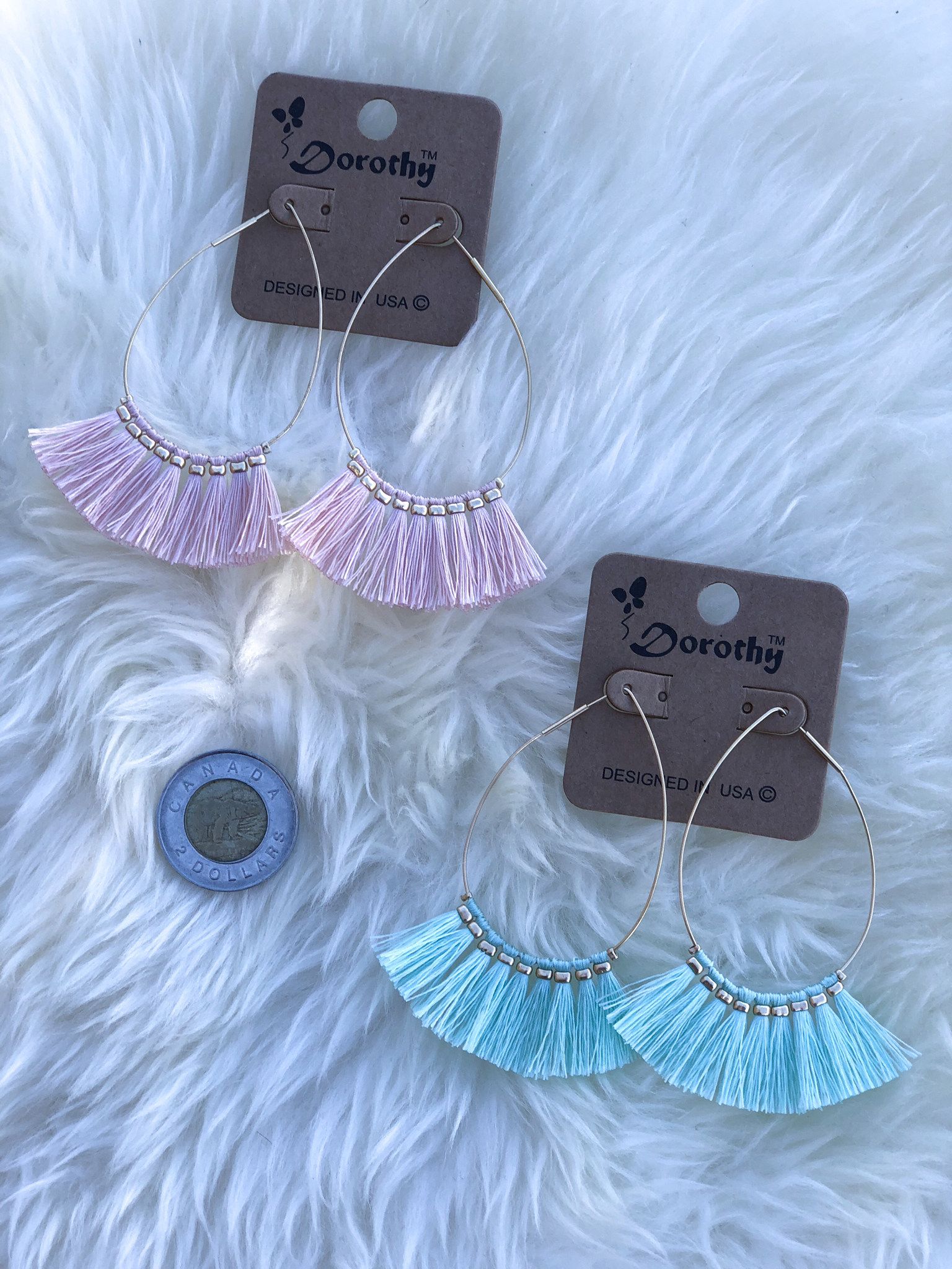 The Tear Drop Tassel Earring E8