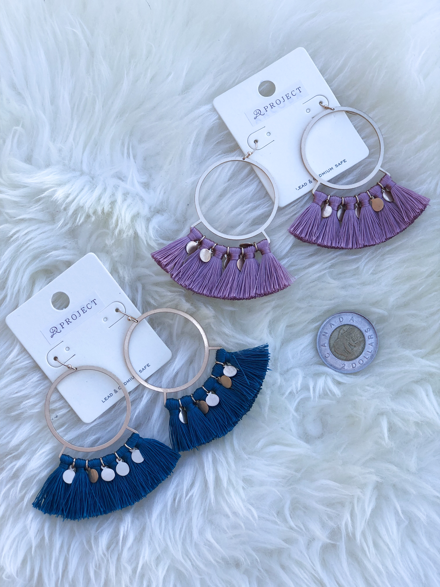 The Tassel Coin Earring E11