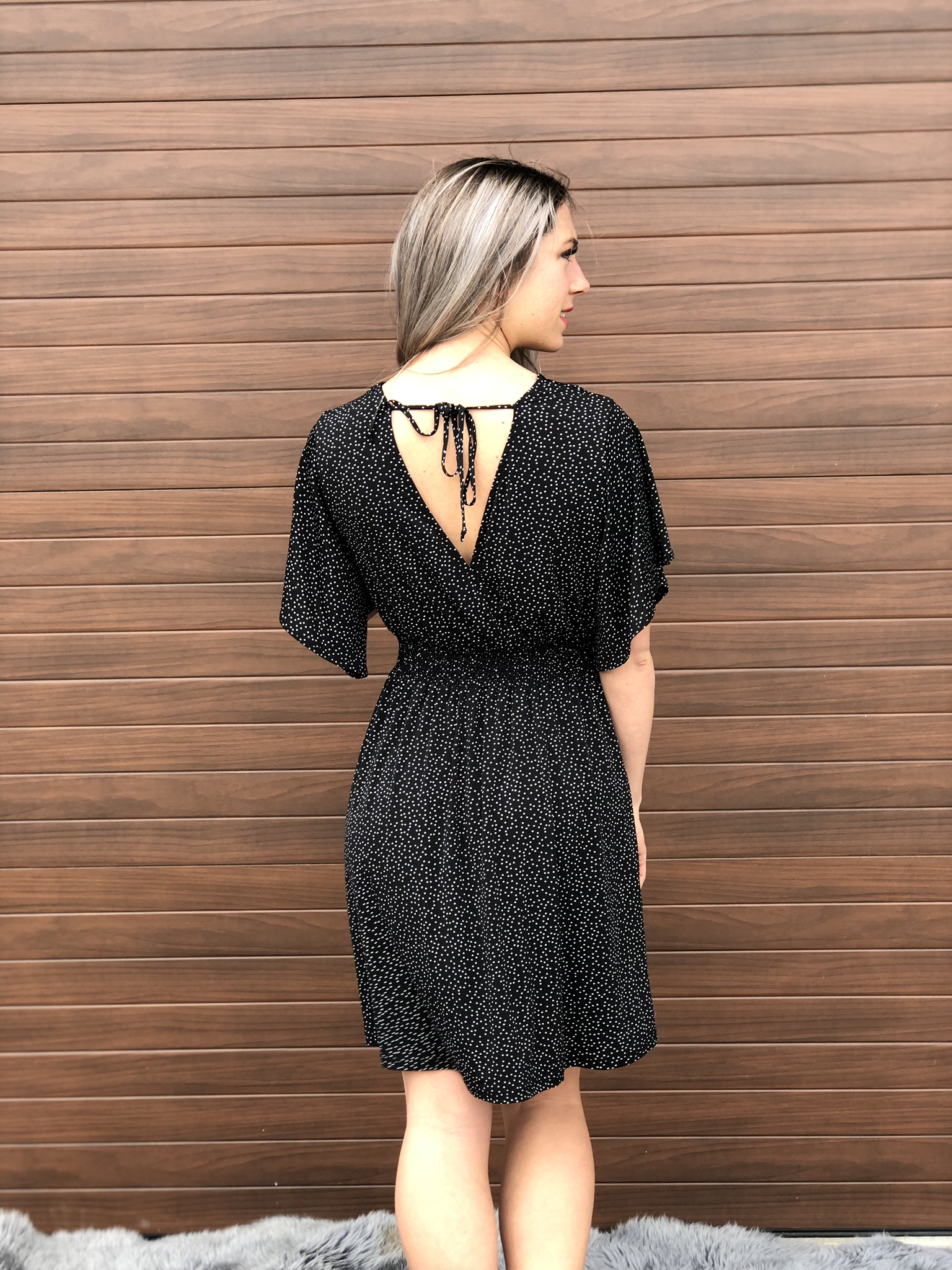 Black Polka Dot Dress - RESTOCK!