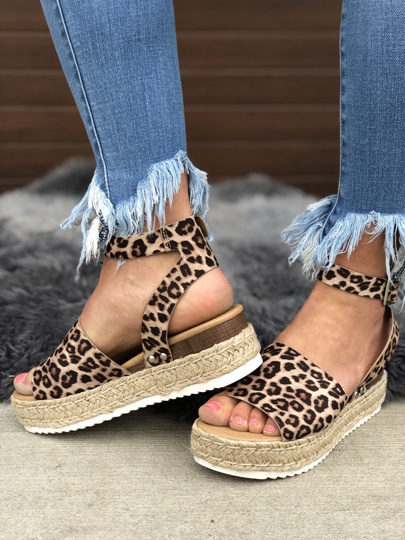 The Cheetah Platform Sandal - 6.5 LEFT! 82382