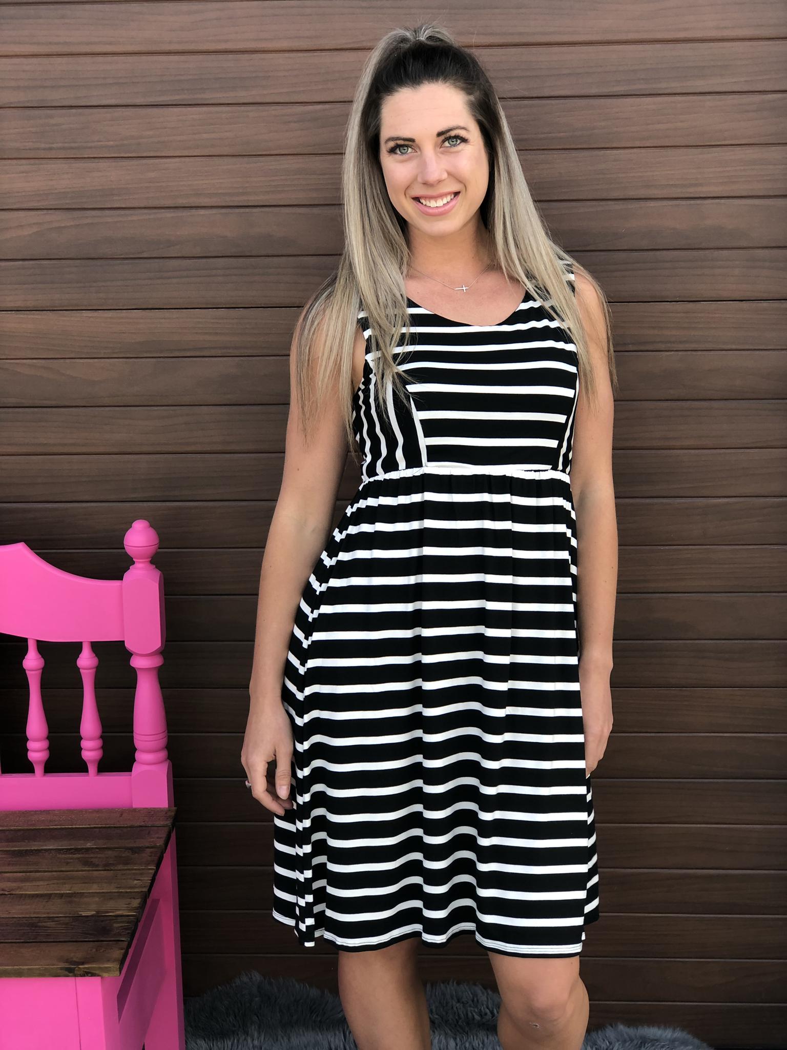 Short Stripe Dress 982416