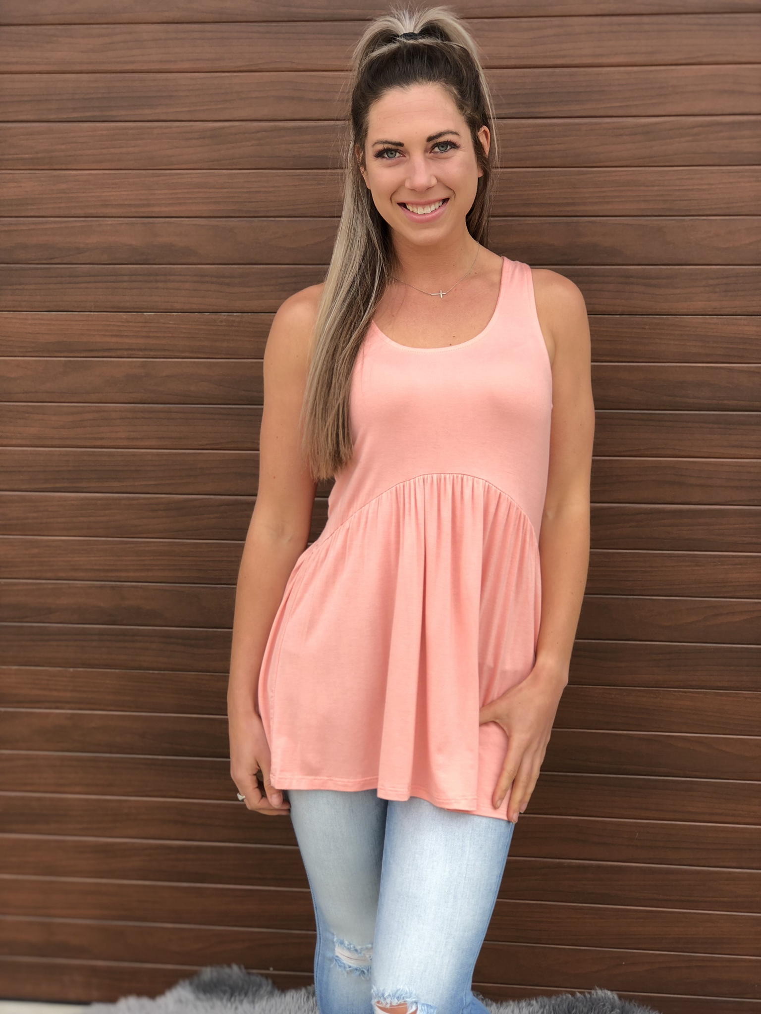 The Tatum Tank - Peach