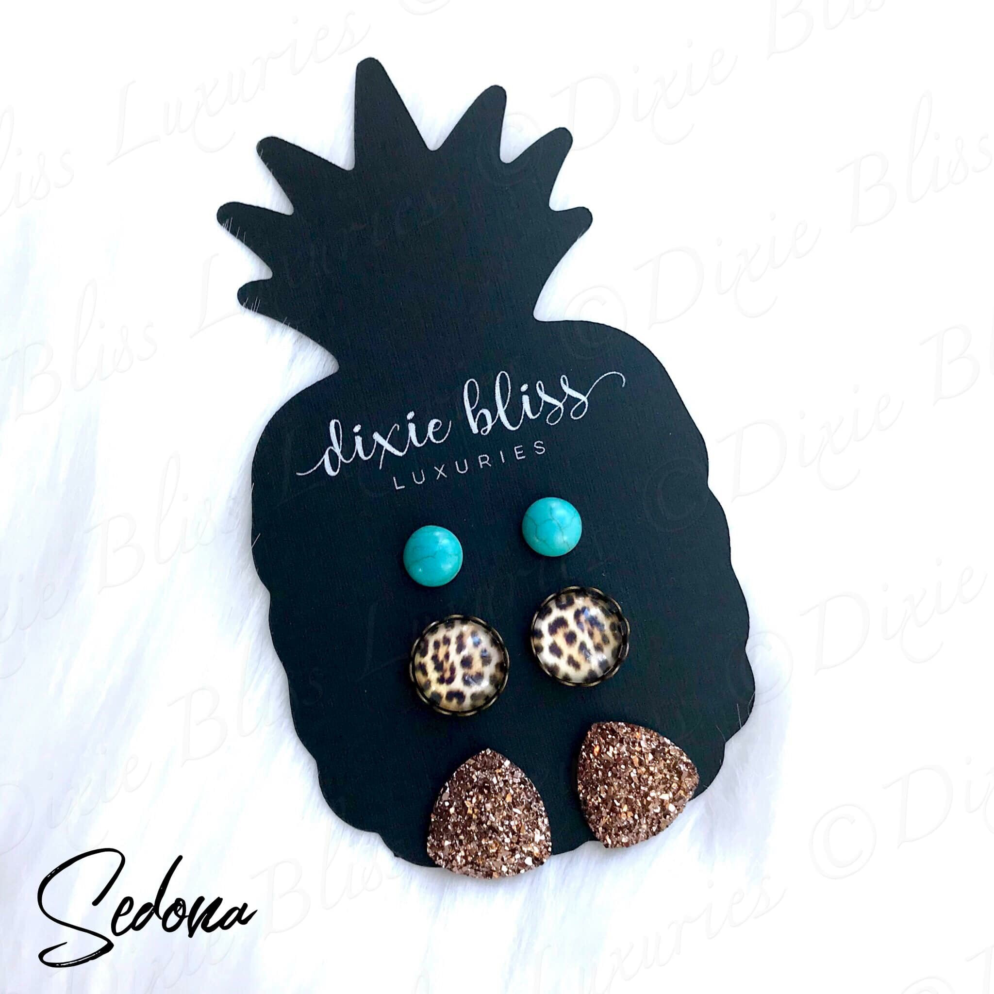 Dixie Luxuries -  3 Pack Earrings - various colors and styles