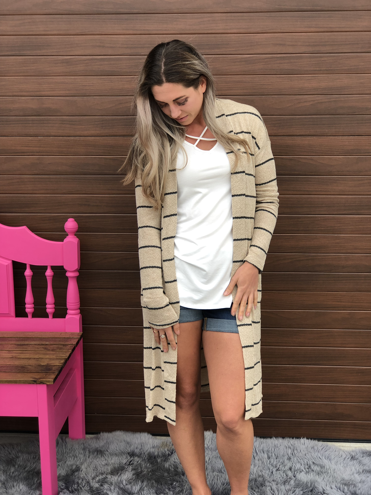 The Light Knit Cardigan - Taupe 82684