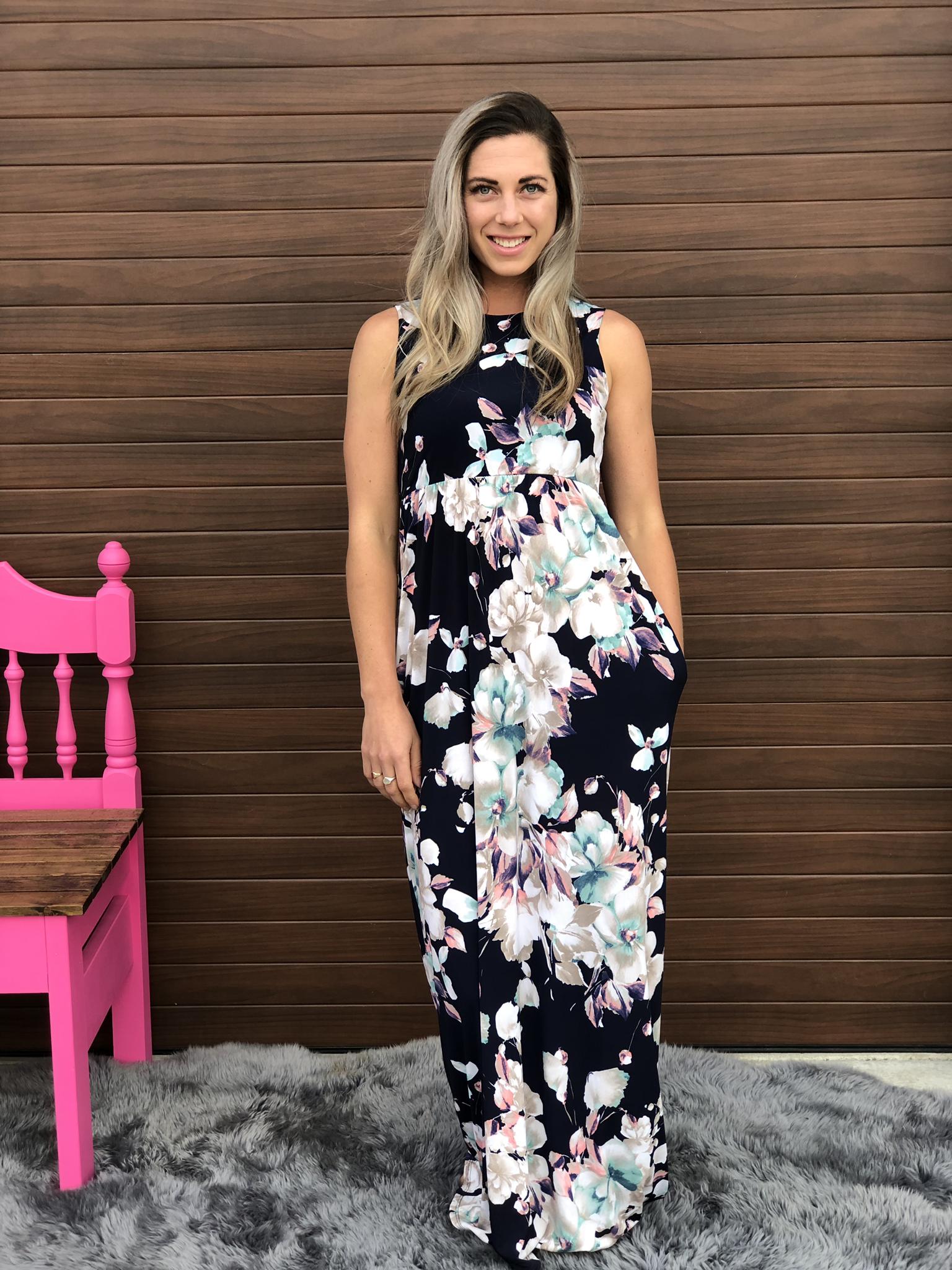 Floral maxi dress 82688