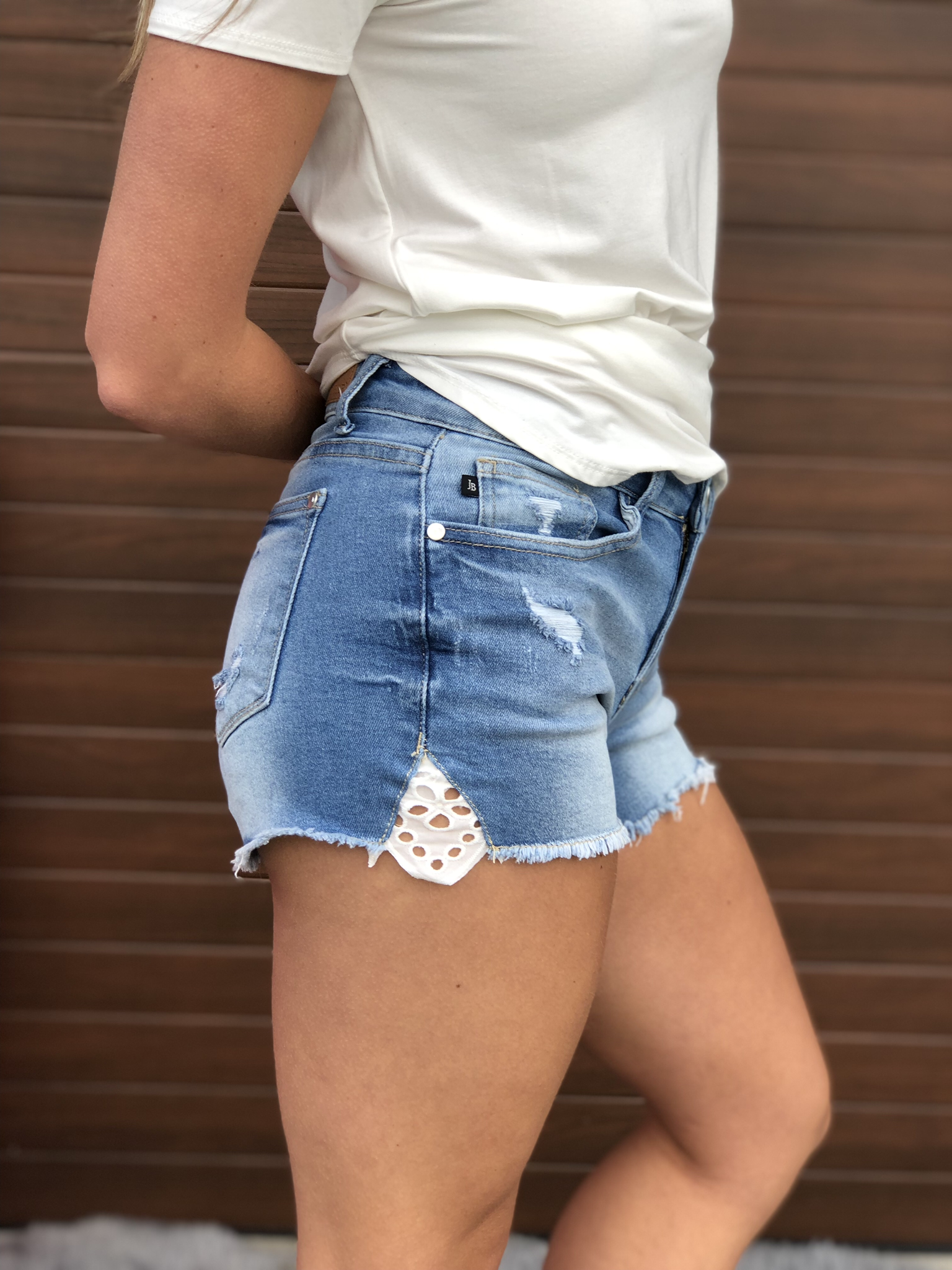 Judy Blue Lace Denim Shorts