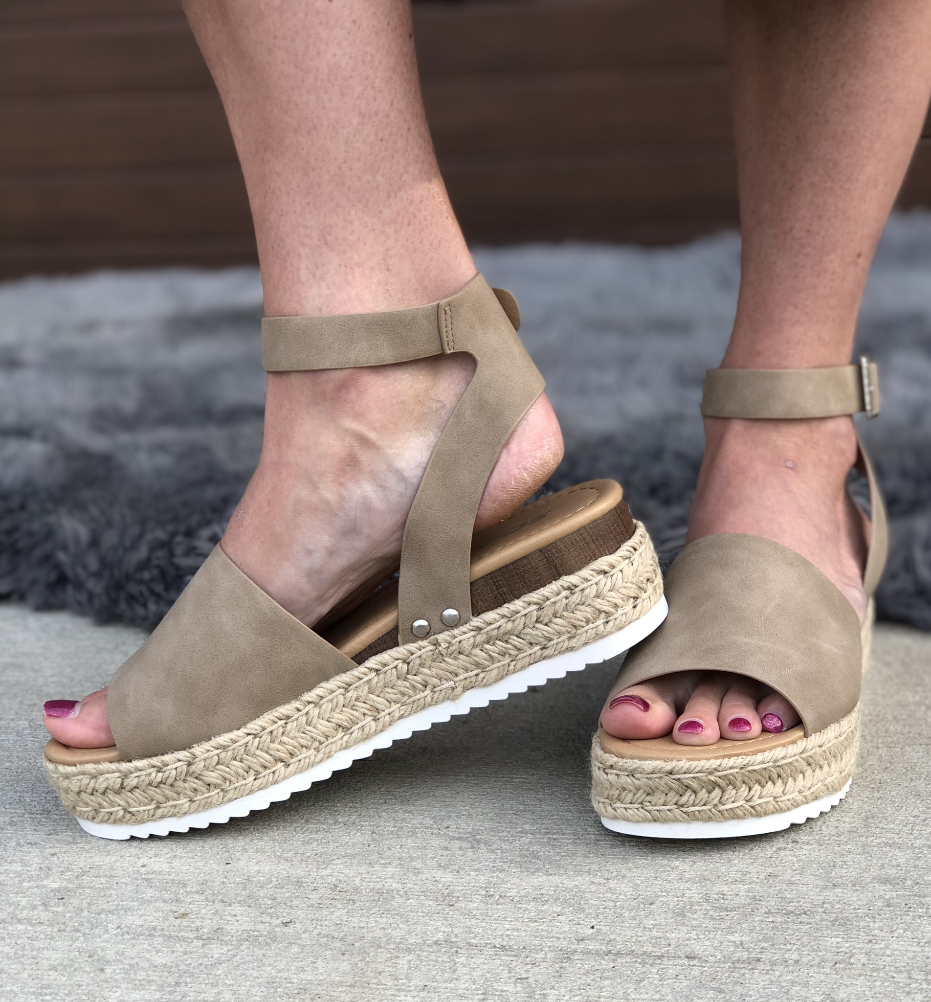 The Taupe Platform Sandal 82715
