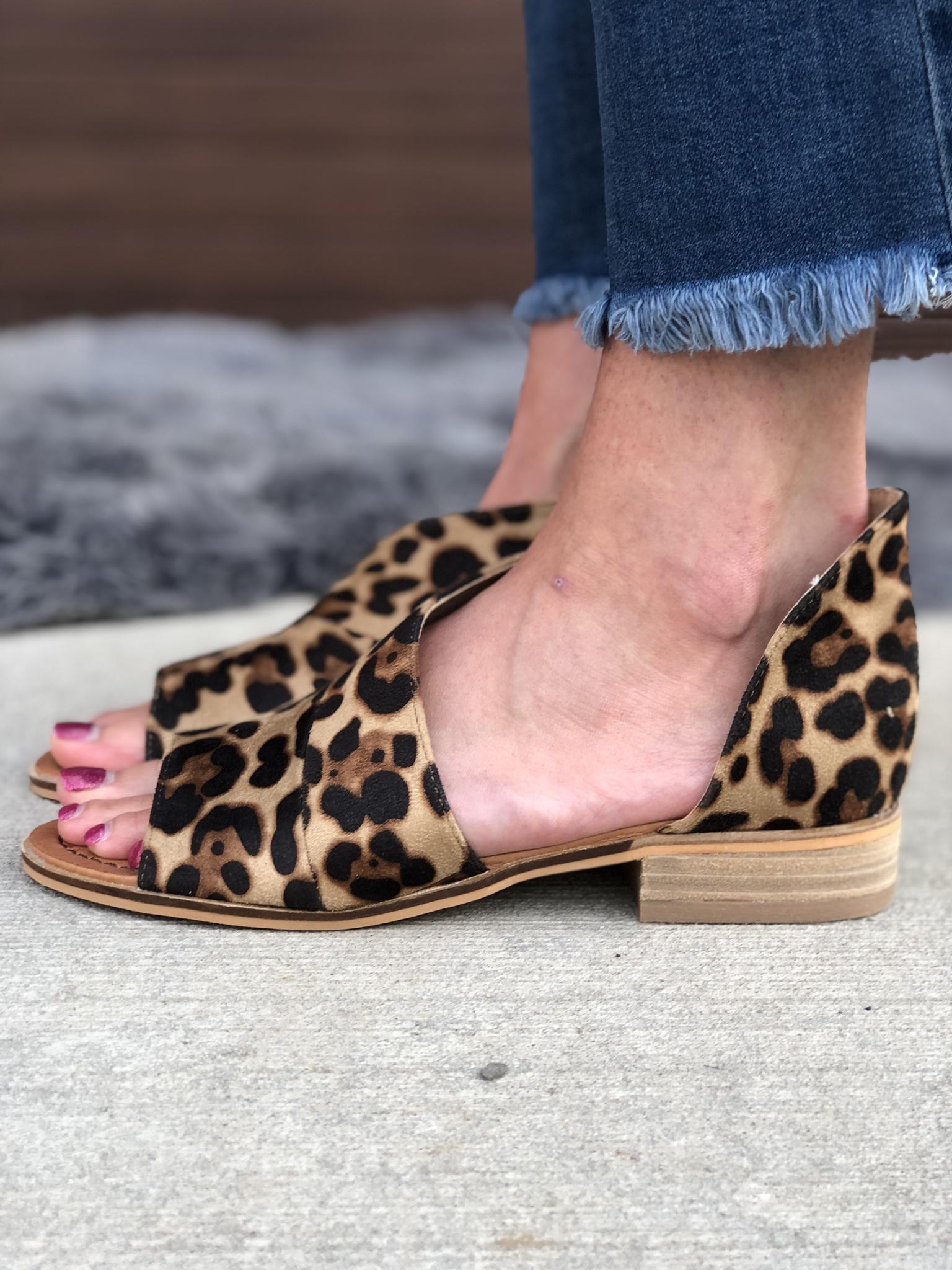 Cheetah Sandal Slide