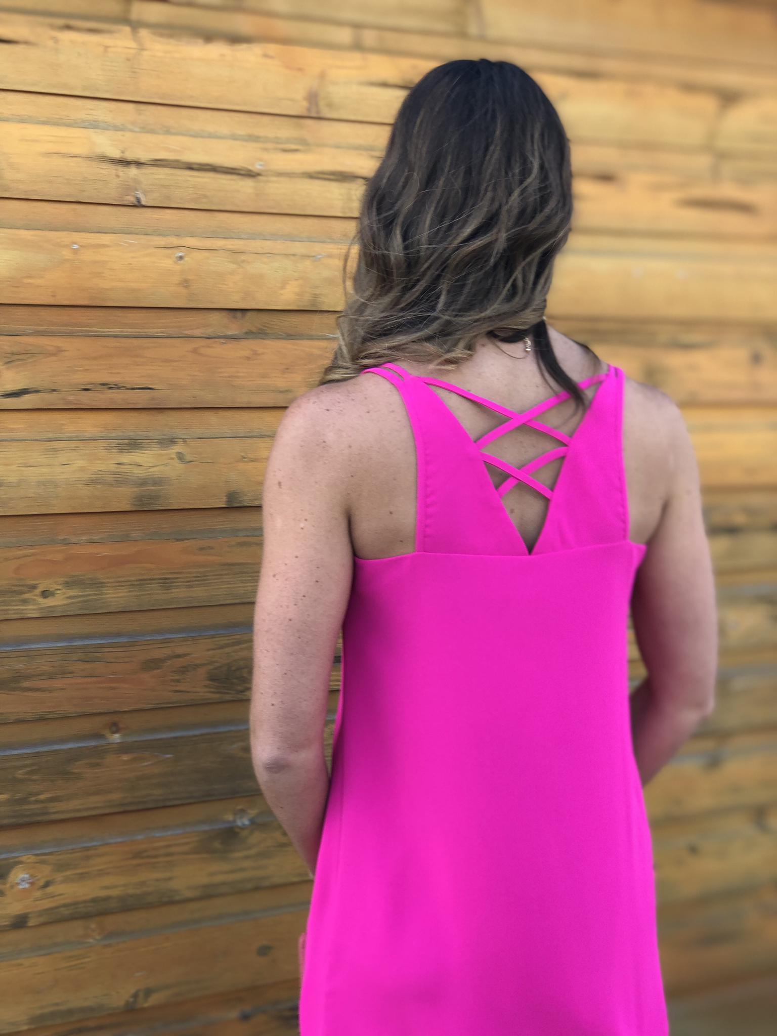 Fuschia Strappy Dress