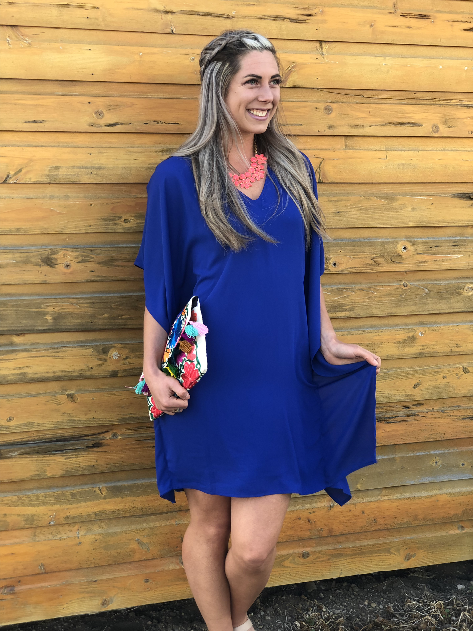 Royal Blue Dress 82866