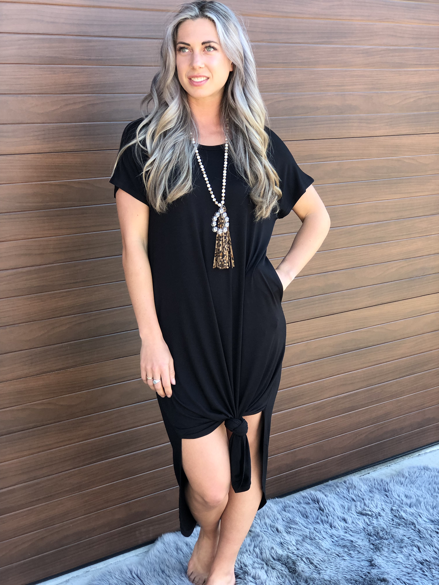 T shirt Dress - Black