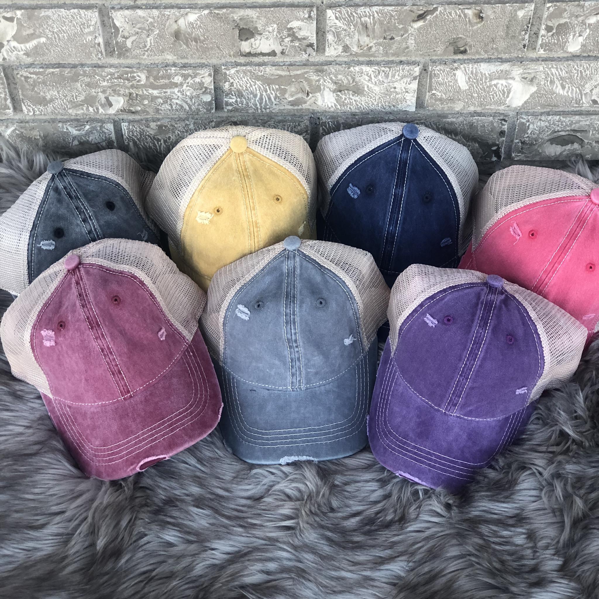CC Pony Tail Hat - Vintage