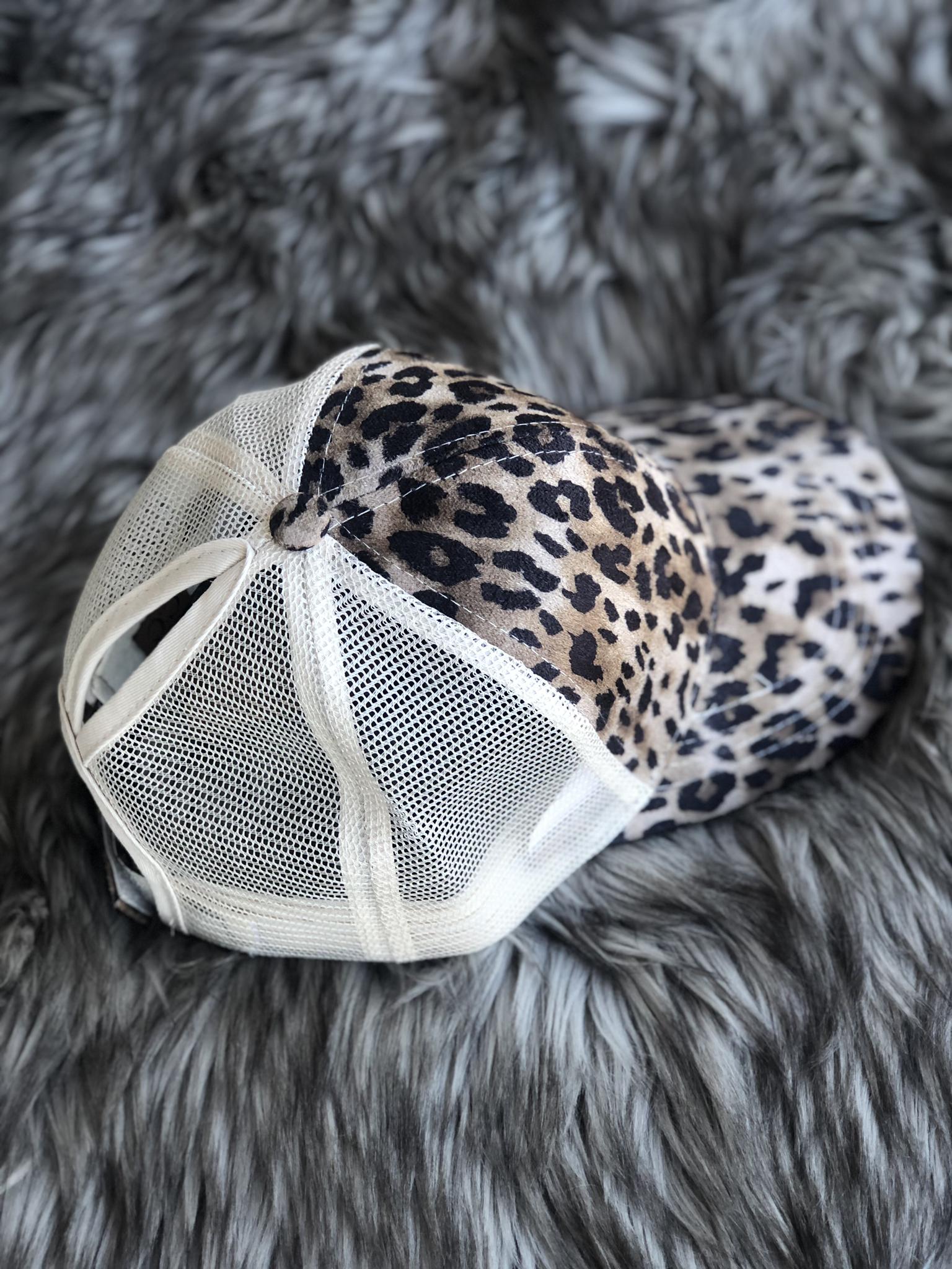 CC Ponytail Hat - Cheetah 82954