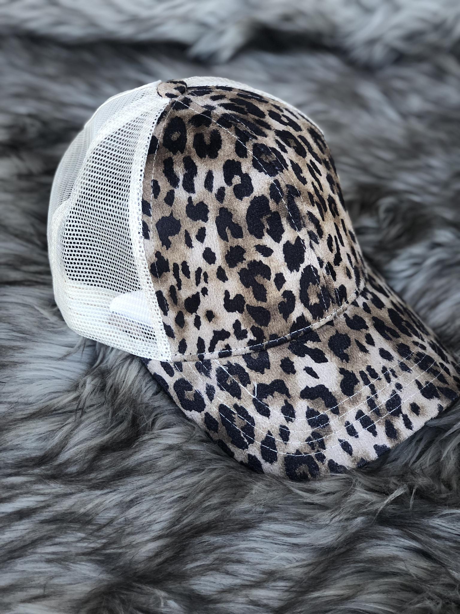 CC Ponytail Hat - Cheetah