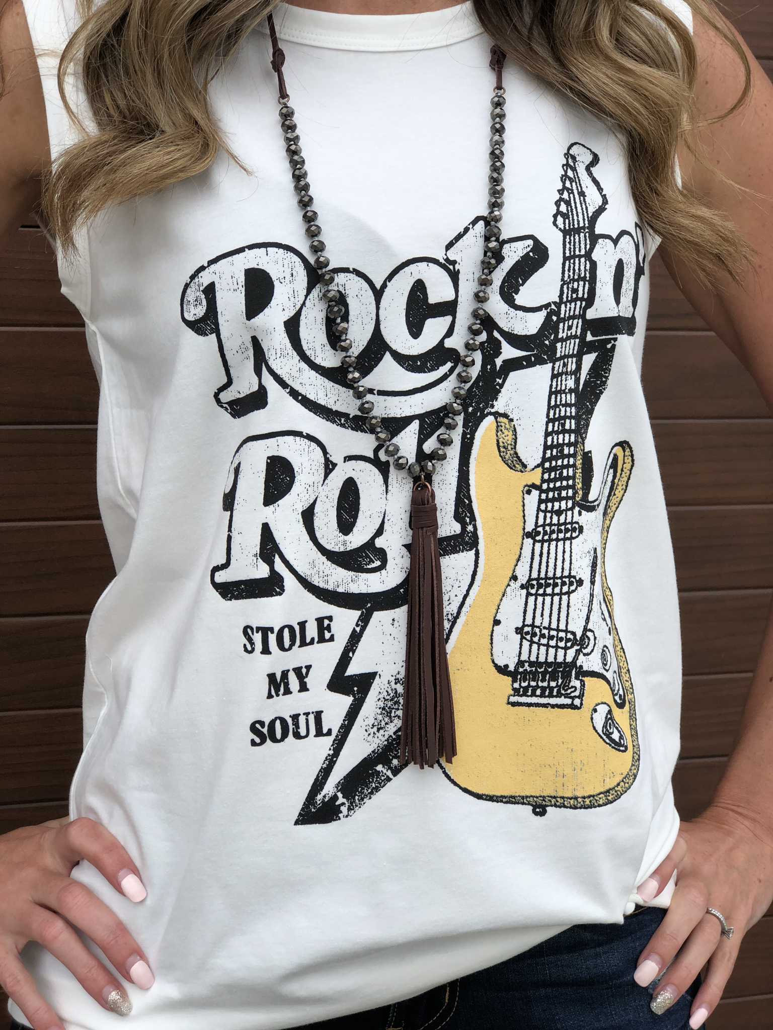 Rock and Roll Stole my Soul - White