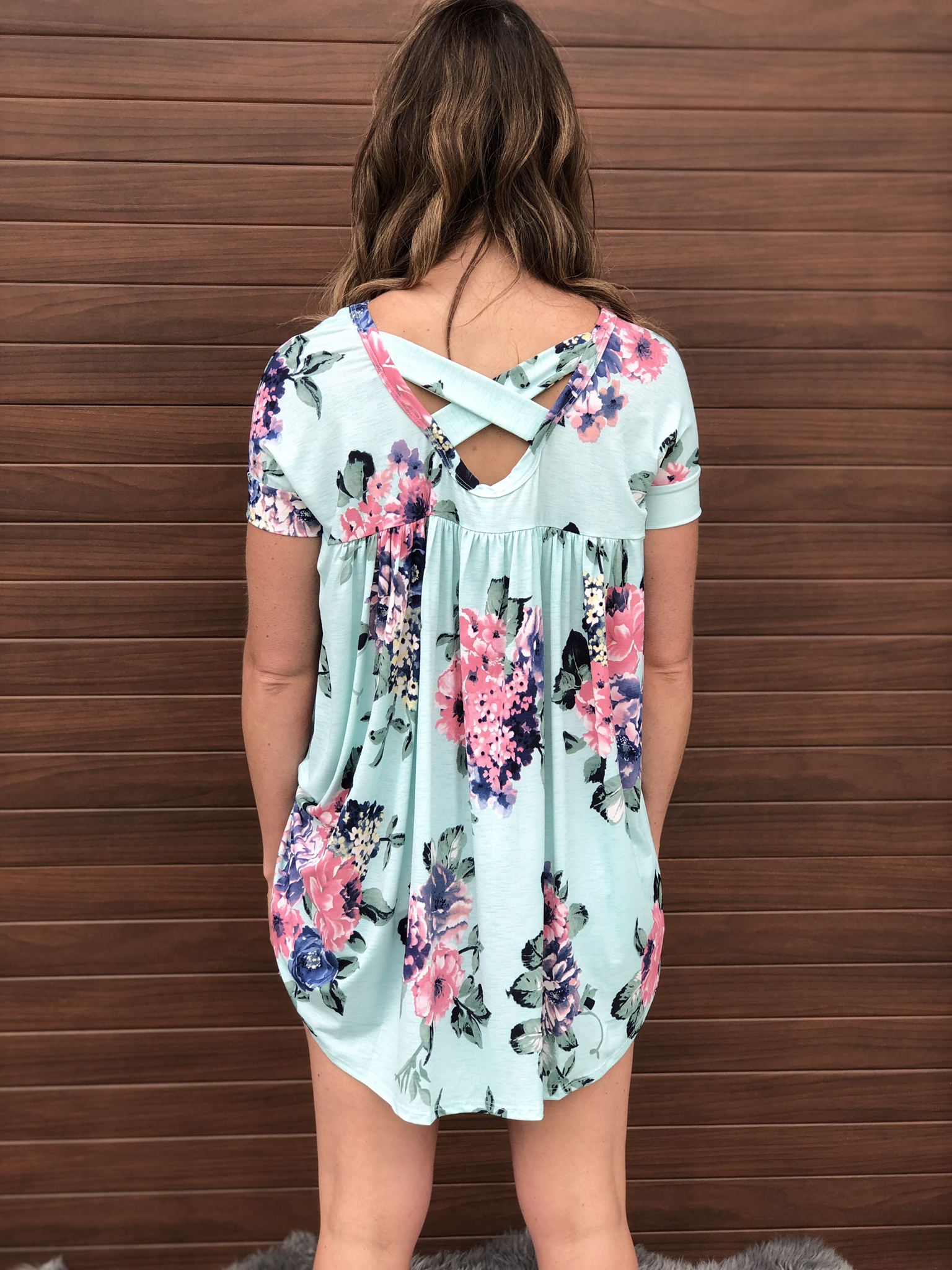 Floral Tunic - Mint