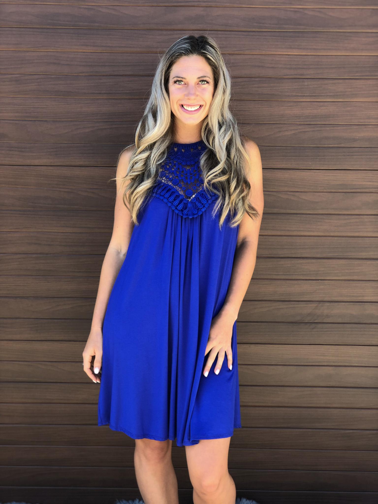 The Ponteix Dress - Blue 83225