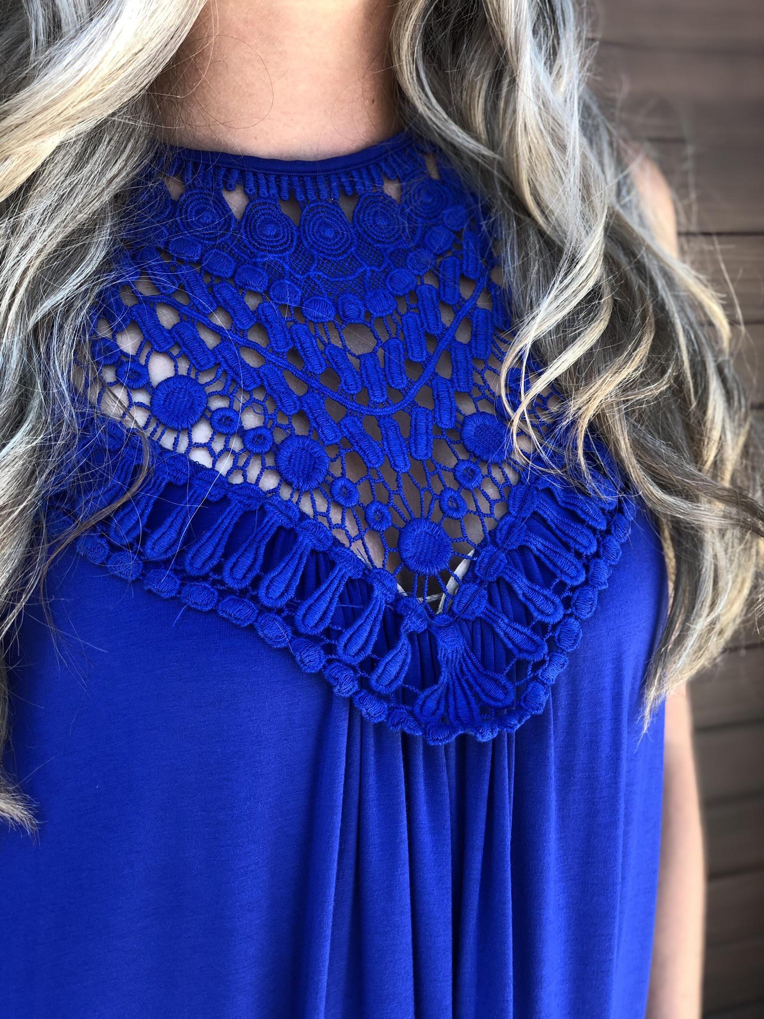 The Ponteix Dress - Blue