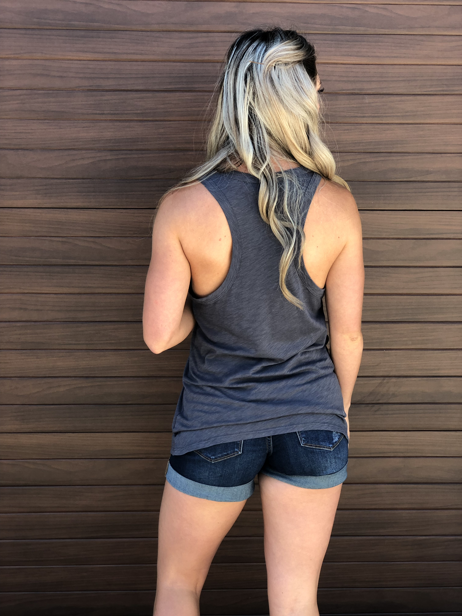 Blondie Tank Grey