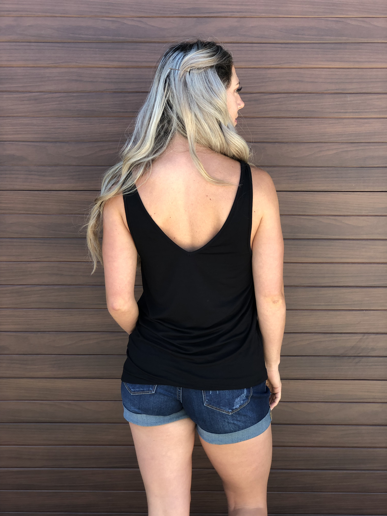 Blondie Tank Black