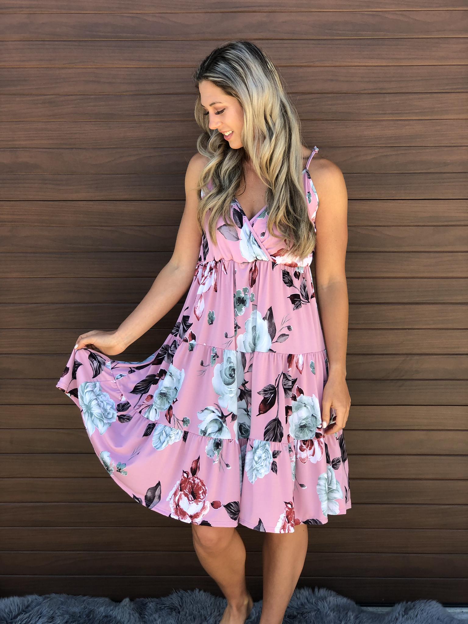 Pink Floral Dress 83258