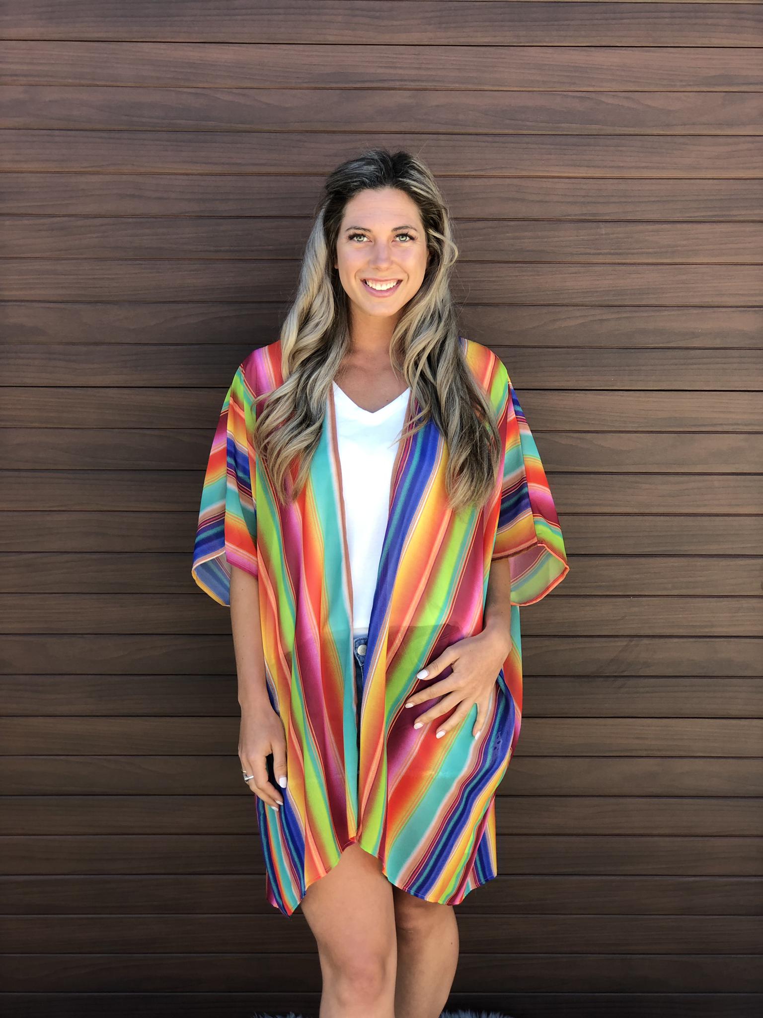 Bright Stripped Kimono 832888