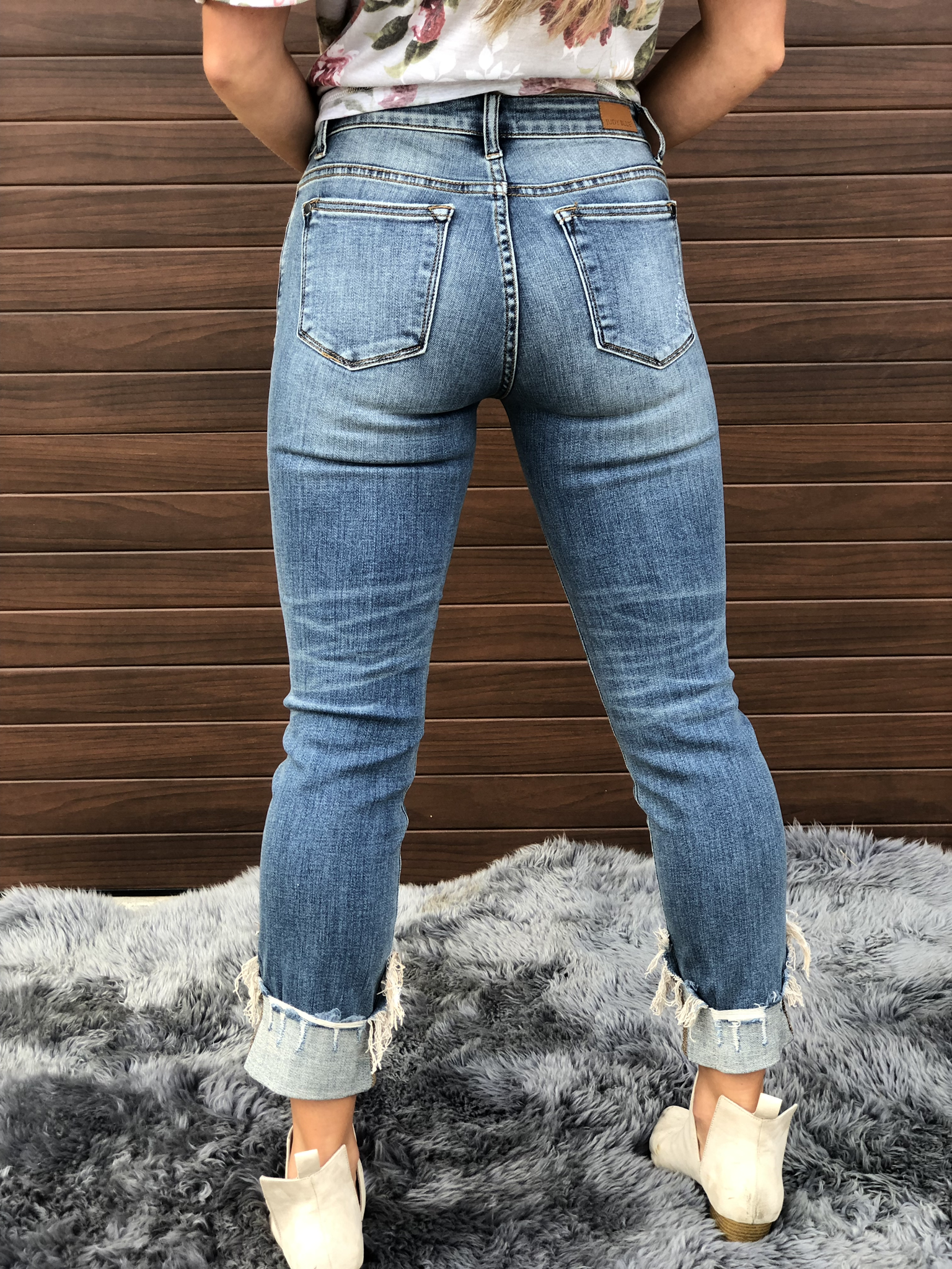 Judy Blue relaxed fit cuffed jean