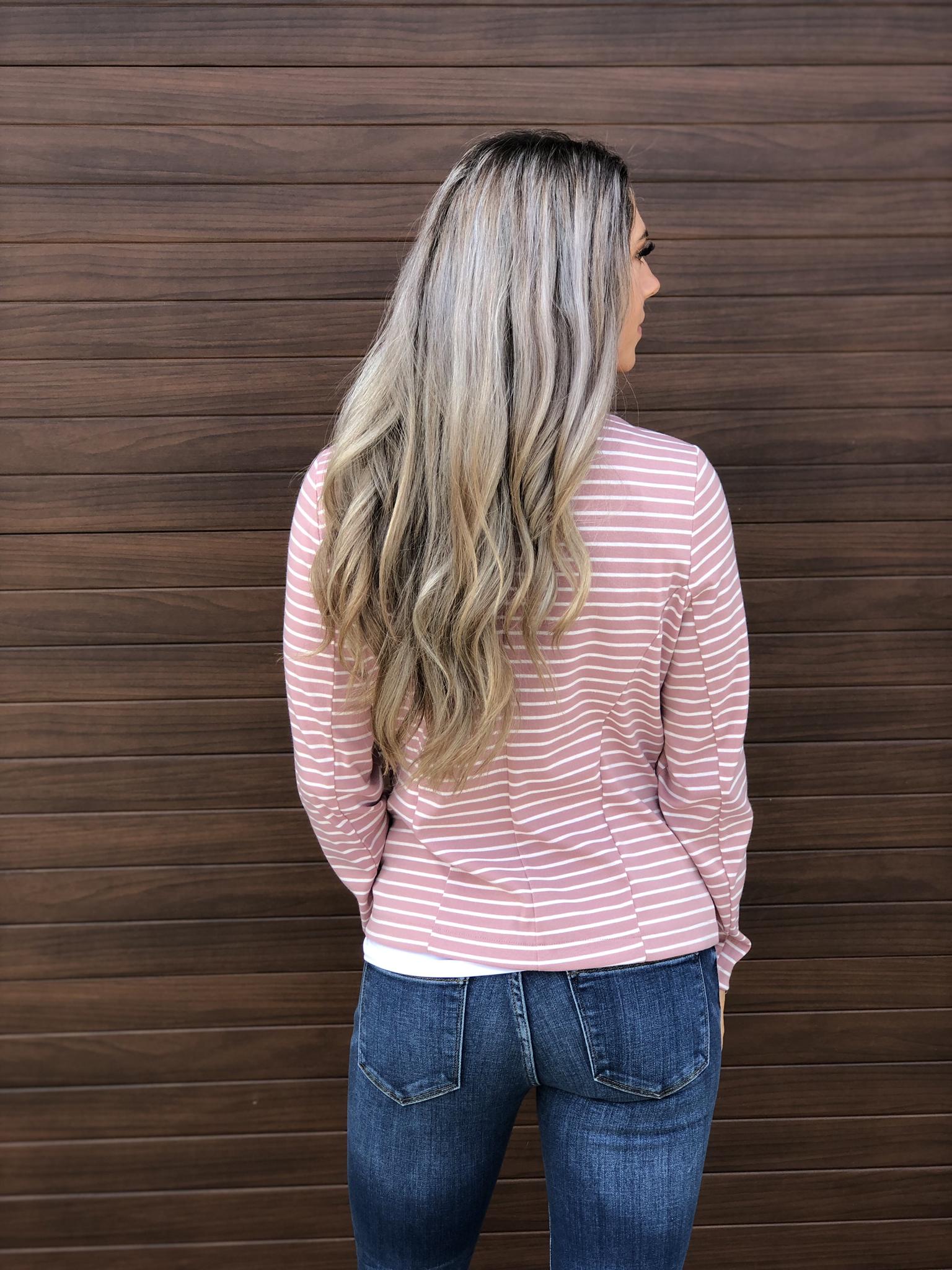 Blush Stripe Blazer