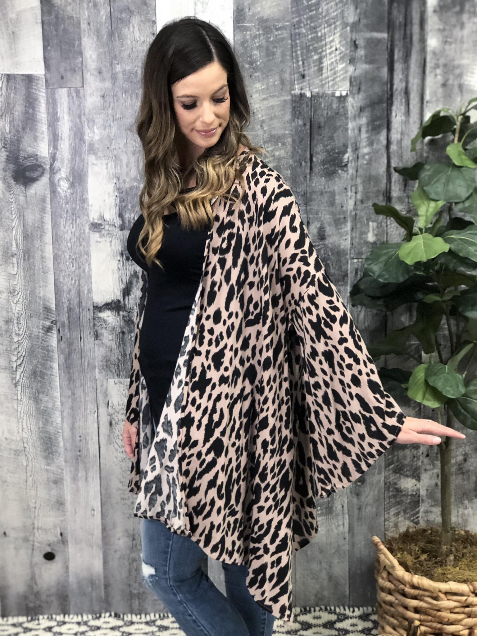 Cheetah Blush Kimono