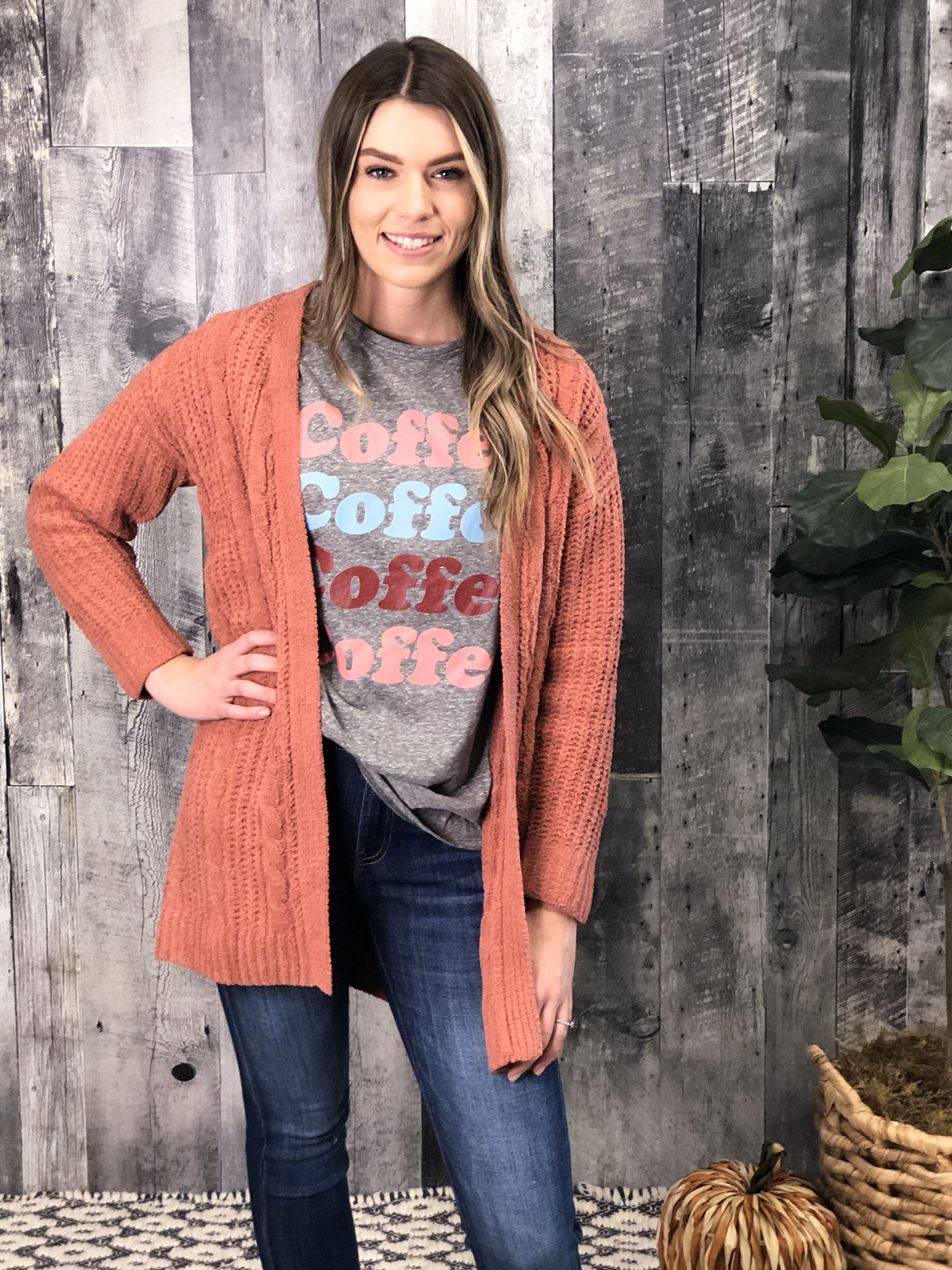 Apricot Sweater Cardigan 84014