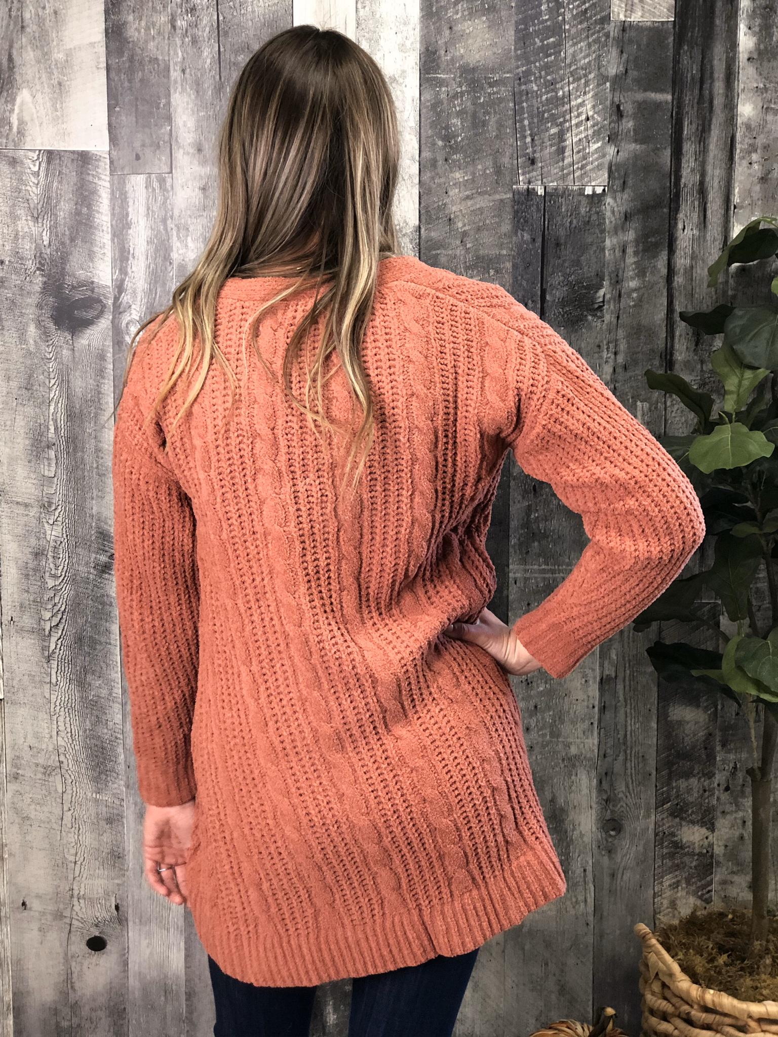 Apricot Sweater Cardigan