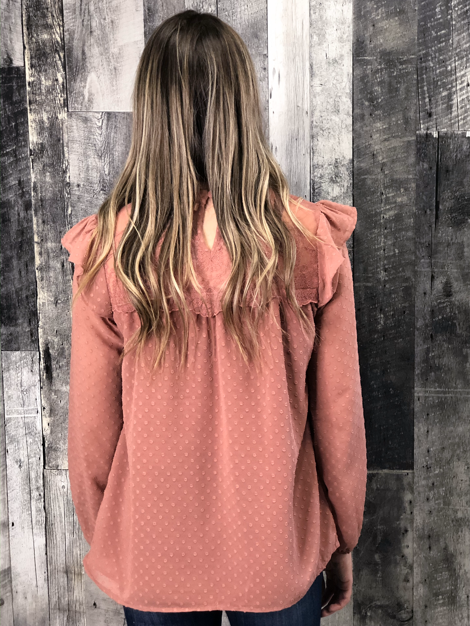 Blush Ruffle Blouse