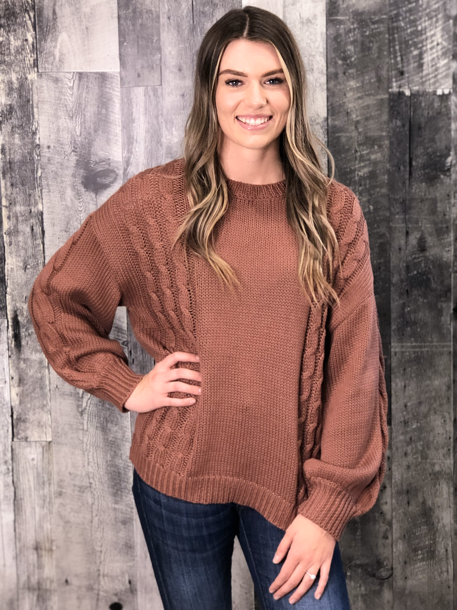 Rust Cable Sweater 83978