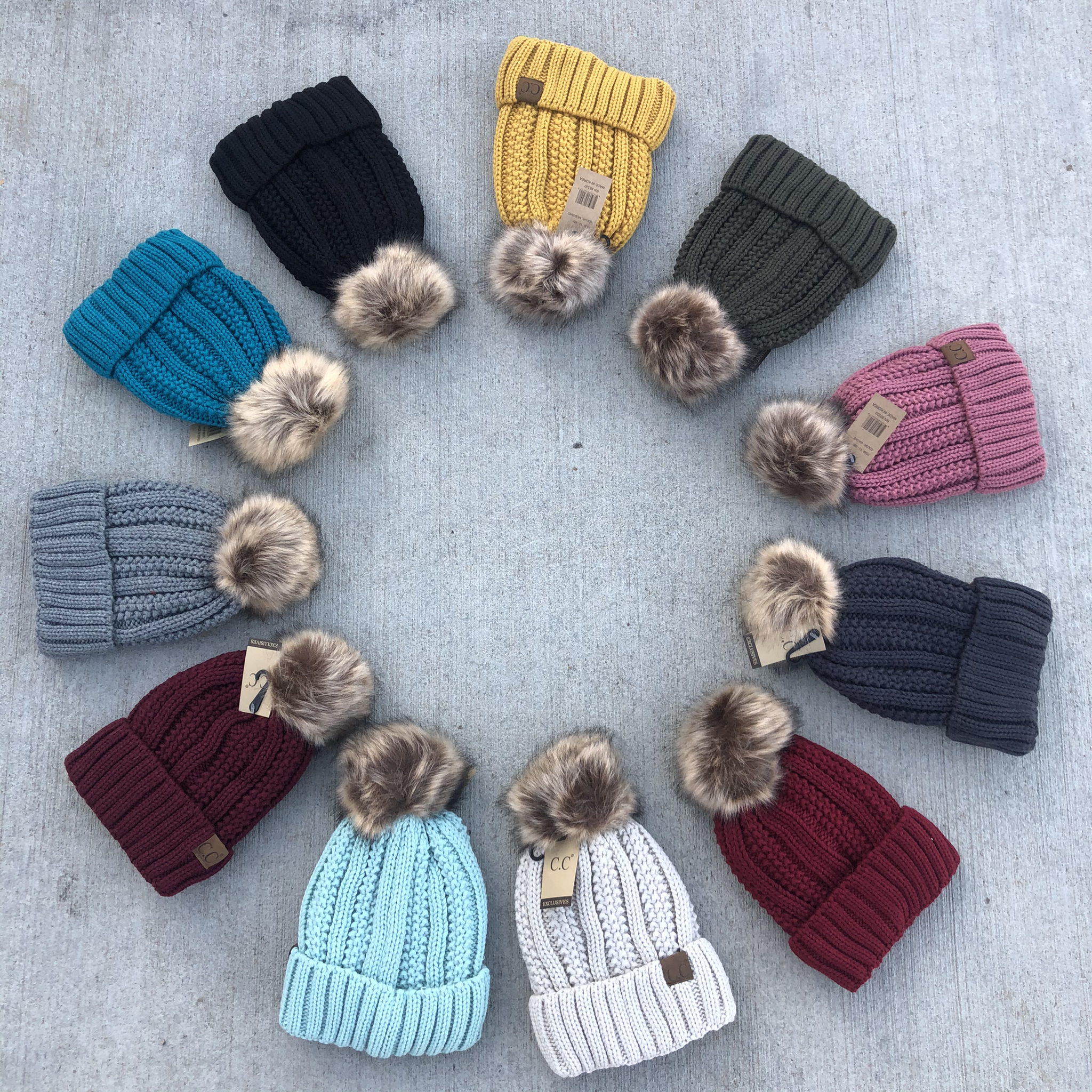CC Cable solid Beanie 840312