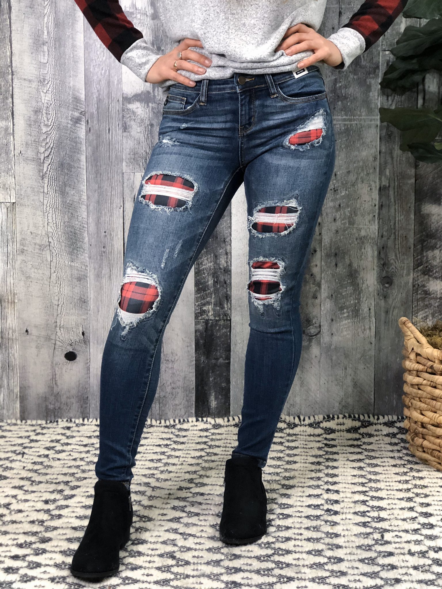 Buffalo Plaid  Skinny Jean 84091