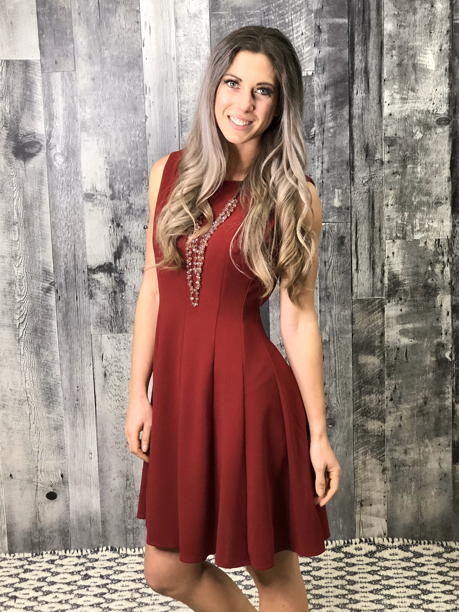 Red Fit and Flair Dress